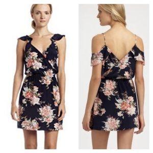 Joie Navy Floral Sari Dress